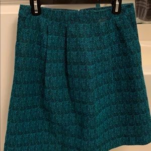 Teal and black heavy skirt with pockets!